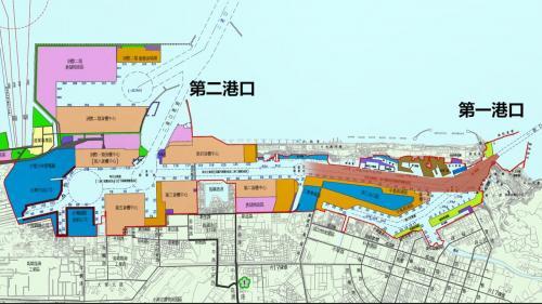 高雄港:第二港口之開闢係由於第一港口水深不足以負載大型貨櫃船隻之進出。於是在紅毛港開闢第二港口