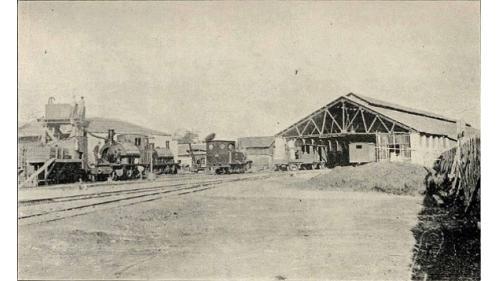 清領時期台北大稻埕車站軌道內景舊照