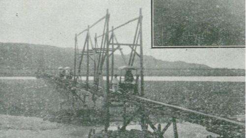 下淡水溪輕便鐵橋舊照