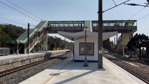 新埔車站天橋及第一月台