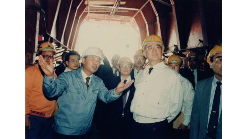 曾元一處長陪同連前副總統視察北二高隧道