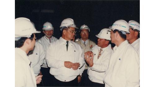 曾元一處長陪同連副總統兼行政院長深夜巡視二高隧道工程