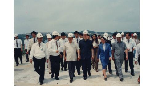 曾元一處長倍同行政院郝院長巡視北部地區重要建設工程