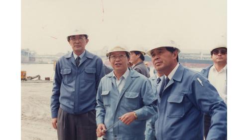 南化水庫圓滿完成蓄水 榮工處處長曾元一訪南化施工處