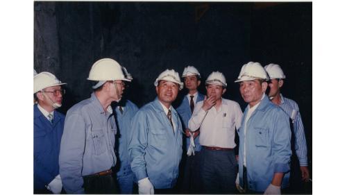 榮工處處長曾元一訪鄭州路地下街工程