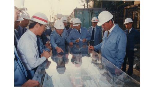 榮工處處長曾元一訪地鐵工程
