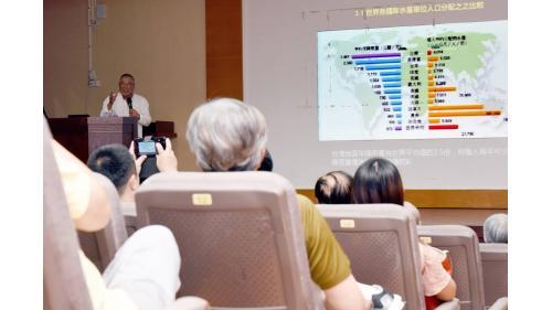 曾元一董事長為「立德公益講座」,以「台灣水資源之開發與運用」為題演講20190905