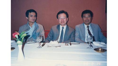 曾元一副處長與同事李建中、蔡錫麒在國際會議中留影