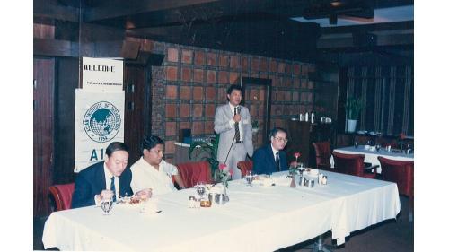 曾元一代表中華民國AIT校友會參加總會舉辦之GBM會議