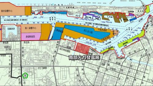 高雄港:南部發電廠位於高雄市前鎮區,1953年時台灣南部地區工業發展持續成長,為了配合中島加工出口區的電力需求,是政府來臺後第一座興建發電廠,也是台灣唯一坐落於都會區內的火力發電廠。