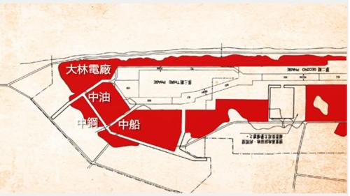 中鋼、中船、中油與台電等國營四大企業皆於高雄港區建廠,皆座落於十二年擴建計畫填築出來的海埔新生地