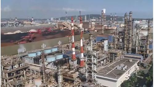 高雄港大林蒲工業用地鳥瞰圖
