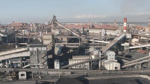 高雄港:中國鋼鐵公司鳥瞰圖