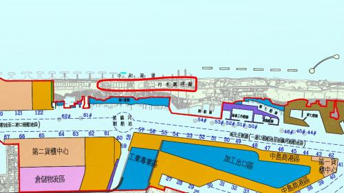 高雄港:中洲污水處理廠位於旗津中洲大汕頭海灘,新建海堤並圍填海岸新生地作為建廠用地。由榮工處興建,於1987年1月建廠啟用,至2005年為止,共進行四階段工程。