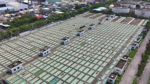 高雄港:中洲污水處理廠初沈池