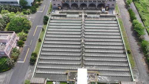 高雄港:中洲污水處理廠北加氯消毒池