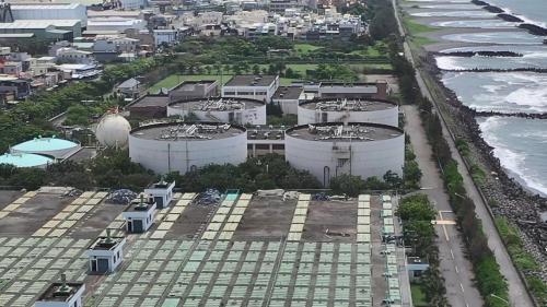 高雄港:中洲污水處理廠污泥消化槽